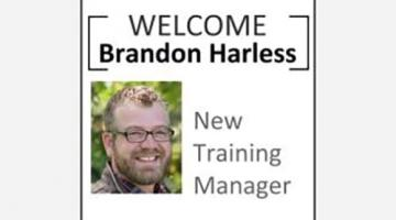 Welcome graphic for Brandon Harless