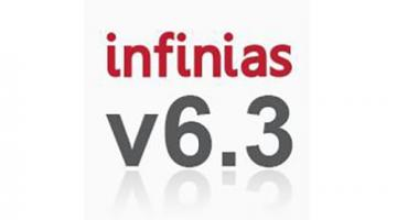 Graphic that reads infinias 6.3