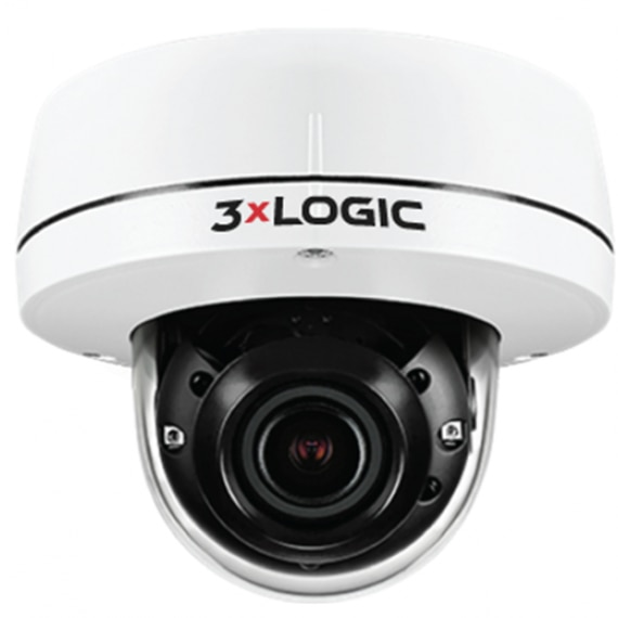 VISIX 5MP Indoor/Outdoor Dome with Remote Focus (2.7-13.5mm), IR, Audio and Alarm I/O, and True WDR. IP67/IK10 rated